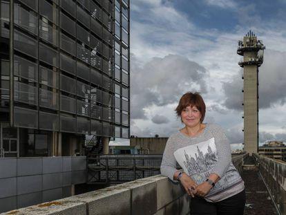 La directora general de À punt, Empar Marco, en la sede alquilada de la nueva televisión.