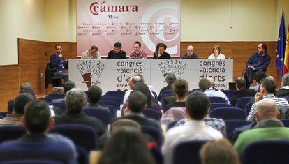 Una de les sessions del Congrés Valencià d'Arts Escèniques a Alcoi.