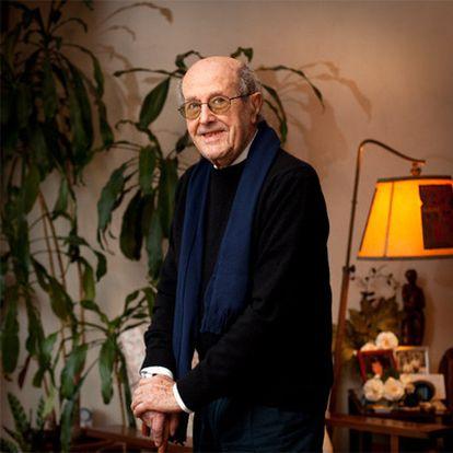 Manoel de Oliveira fotografiado ayer en su casa de Oporto.
