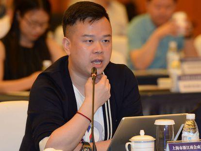 Lin Qi, director ejecutivo de Yoozoo Games, en un encuentro celebrado en China en mayo de 2018.