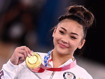 Sunisa Lee, con la medalla de oro.