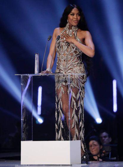 Naomi Campbell, en los British Fashion Awards celebrados en el Royal Albert Hall de Londres el 2 de diciembre.