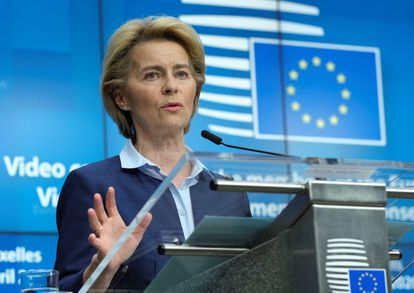 La presidenta de la Comisión Europea, Ursula von der Leyen.