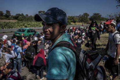 Aspecto de la última caravana de migrantes, a su paso por México.