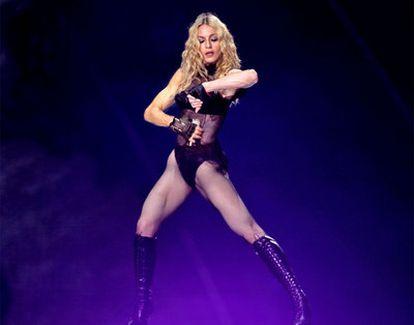 La cantante Madonna, durante un concierto en Valencia.