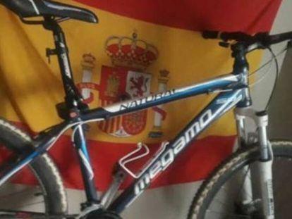 La bicicleta de Alejandro, en Wallapop.
