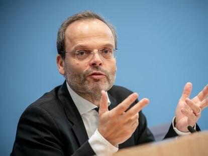 Felix Klein, en una rueda de prensa en noviembre en Berlín.