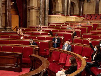 Un pleno del Parlament el pasado junio.