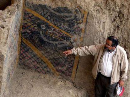 La pintura mural más antigua de Latinoamérica, en la huaca Ventarrón, fue afectada gravemente