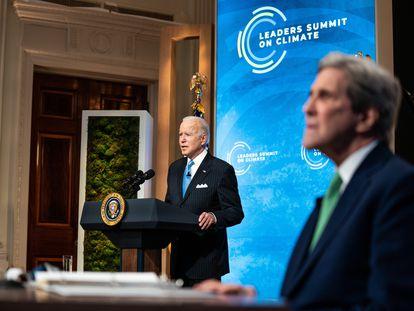 Joe Biden, presidente de EE UU, interviene en la última jornada de la cumbre climática.