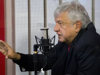 López Obrador, durante una entrevista.