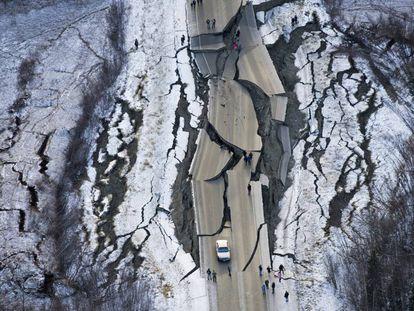 Carretera en Alaska.