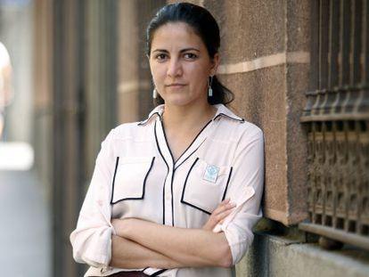La opositora cubana Rosa María Payá, ayer en Madrid.