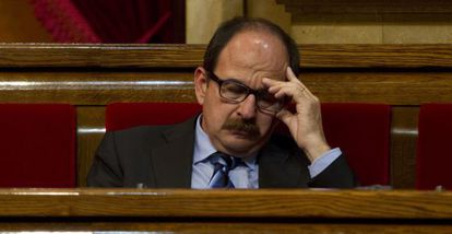 El diputado de CiU Xavier Crespo, en el Parlamento de Cataluña.