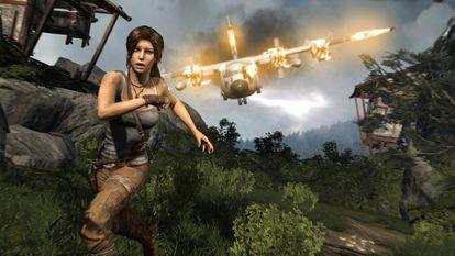 Lara Croft en una de sus aventuras.