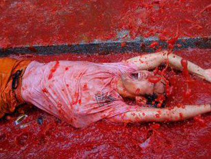 Imagen de la 'tomatina' del año pasado.
