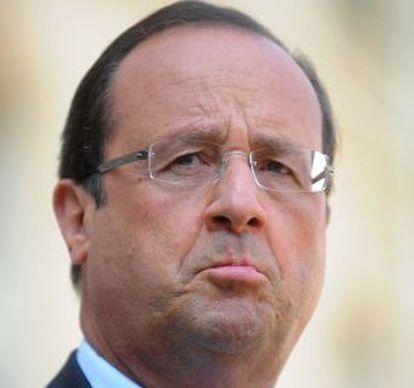 François Hollande, presidente francés.