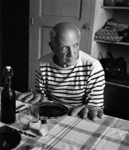 'Los panecillos de Picasso' (1952), de Robert Doisneau.