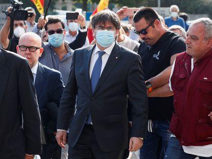 Carles Puigdemont llega al tribunal de apelación de Sassari el pasado 4 de octubre, en Cerdeña.