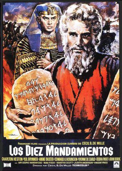 Cartel del filme 'Los 10 mandamientos', realizado por Mac.