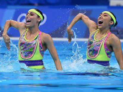 Las nadadoras Nuria Diosdado y Joana Jimenez compiten este martes en Tokio 2020.