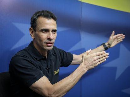 Henrique Capriles, en una entrevista en Caracas, el 29 de marzo del año pasado.