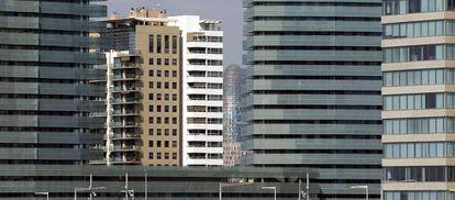 Edificios de oficinas en el distrito tecnológico del 22@.