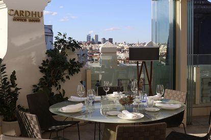 Terraza del restaurante Picalagartos, en Gran Vía de Madrid.