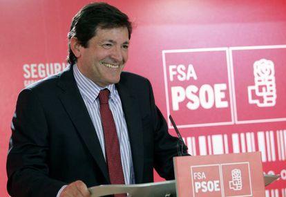 El candidato a la presidencia del Principado de Asturias, Javier Fernández, hoy.