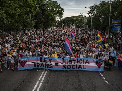 Manifestación del Orgullo LGTBI en Madrid.