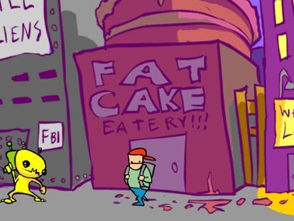 Captura del popular videojuego 'Alien Hominid', creado originalmente en Flash para el portal Newgrounds
