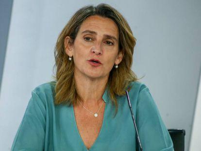 La vicepresidenta tercera, Teresa Ribera, el 3 de agosto en Madrid.