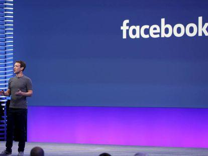 Mark Zuckerberg durante la conferencia F8.
