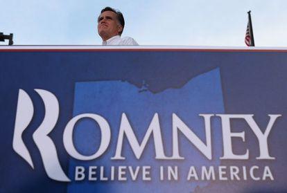 Romney en un acto de campaña en Ohio el 14 de agosto.