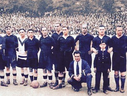 Real Unión Club; campeón de 1924. De blanco, Antonio Emery, el portero.