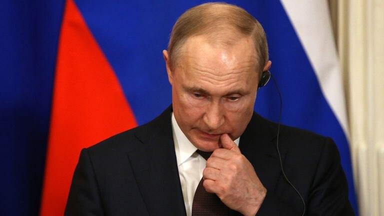 El presidente ruso, Vladímir Putin, durante una comparecencia con su homólogo turco, Recep Tayyip Erdogan, el pasado 5 de marzo en Moscú.
