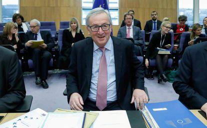 El presidente de la Comisión Europea, Jean-Claude Juncker, en Bruselas este miércoles.