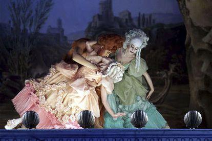 Un momento de la representación de <i>Andrea Chénier</i> en el Teatro Real de Madrid.