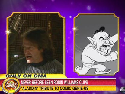 Lo nunca visto del Genio de Robin Williams en 'Aladdin'