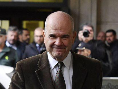 Manuel Chaves, este martes a la salida del juicio del 'caso ERE'.