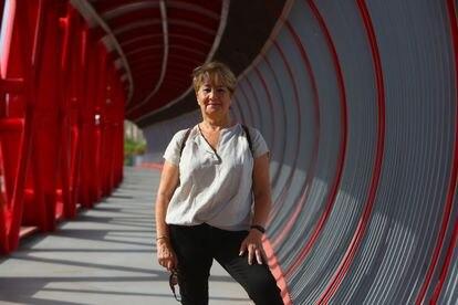 Marisa Velasco, de la asociación Derecho a Morir Dignamente, este martes en Alicante.