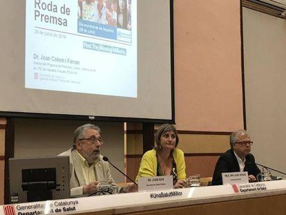 Unas 30.000 personas tienen la Hepatitis C en Cataluña y un 20% no lo sabe J.Guix, A.Vergés y J. Colom
