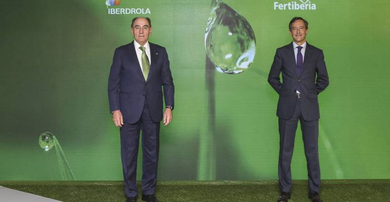 Ignacio Sánchez Galán, presidente de Iberdrola y Javier Goñi, de Fertiberia.