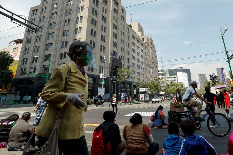 El centro de la Ciudad de México, el viernes 24 de abril.