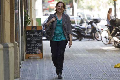 Ada Colau, ganadora en las elecciones municipales en Barcelona al frente de la formación Barcelona en Comú. Foto: Joan Sanchez