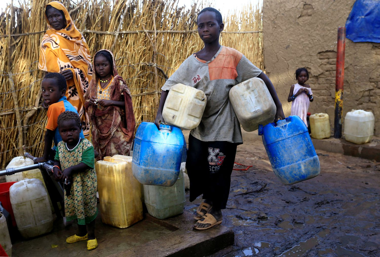 Desplazados en el campamento de desplazados de Kalma, en Darfur, en 2019.