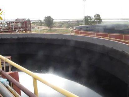 Los depósitos habían acumulado 5.000 toneladas de agua contaminada.