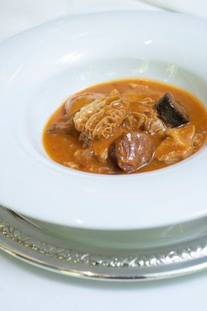 La panza de Jorge Losa, el actual chef zalacaine, premiado como el mejor del mundo en 2021, estará en la nueva carta del restaurante.