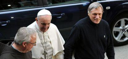 El Papa y el padre Luigi Ciotti, el pasado 21 de la marzo.