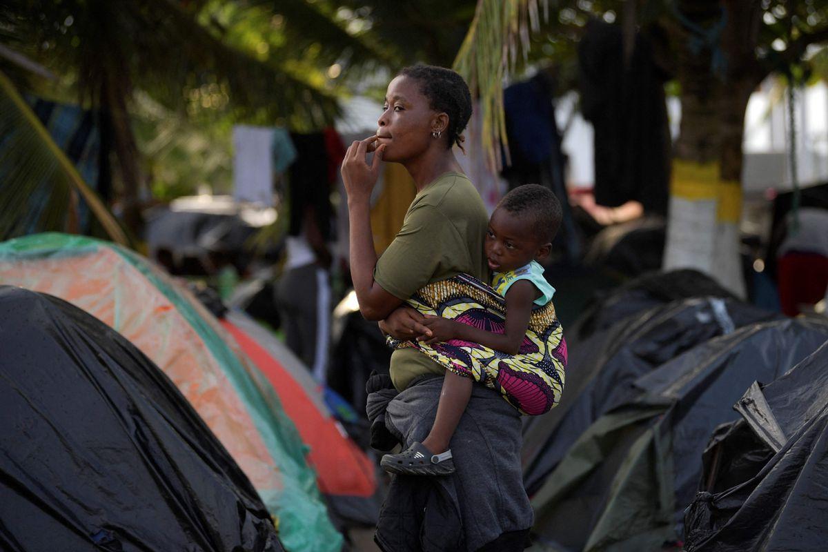 Necoclí, el primer 'muro' para los migrantes haitianos